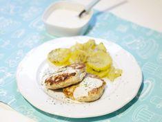Hamburguesas de pollo con salsa de yogur