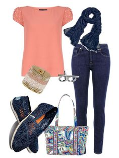 """Toms, Vera Bradley= happiness"" by cjnoles ❤ liked on Polyvore"