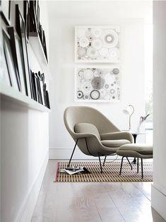 Womb Chair with Ottoman by Saarinen DESIGN ICONS: EERO SAARINEN - vkvvisuals.com/blog