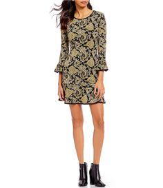 efcbdb7f543 MICHAEL Michael Kors Sweetheart Paisley Print Flounce Dress