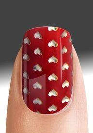 Valentine Hearts Nail Art #nail   http://pinterest.com/ahaishopping/