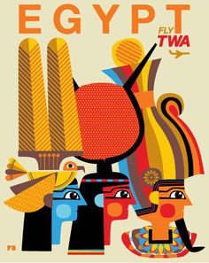 Egypt TWA #jet #illustration