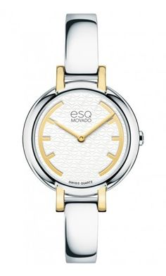 "ESQ ""Contempo"" Woman's Watch. Stainless Steel & Gold Plate Quartz Movement at DarcysFineJewelers.com $350"
