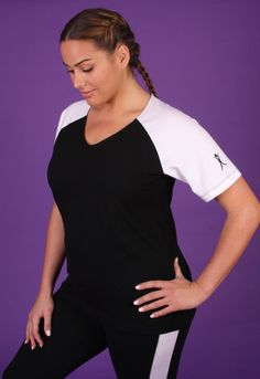 This sporty slim style plus size baseball shirt is perfect for all your athletic activities.  Whether working out at the gym, chasing your kids on the soccer field, or simply running errands, this slim comes in several colors.!