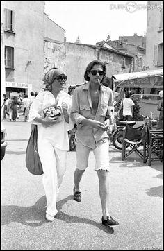 Romy Schneider et Daniel Biasini à Saint-Tropez en 1976