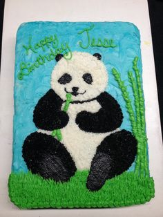Panda Bear cake. By: Designer Cakes By Sharon