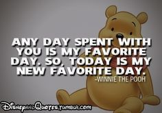 Winnie the pooh... This is to my Sweet Husband who I love so much
