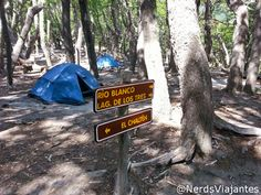 Camping Poincenot, perto da Lago dos Tres, em El Chaltén, província de Santa Cruz, Patagônia, Argentina.