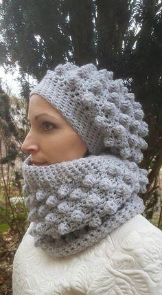 Double snood et bonnet loose en bobble stitch au crochet - Les ateliers de  maman Touchatou. 15203366 1486040531411457 3433295100304196823 n 006b26e6605