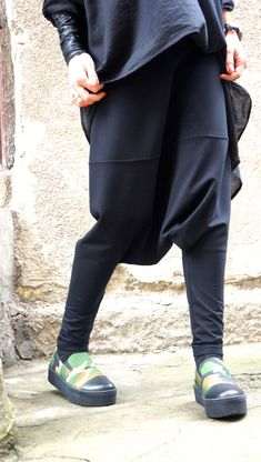 Hey, I found this really awesome Etsy listing at https://www.etsy.com/dk-en/listing/226211328/loose-casual-black-drop-crotch-harem