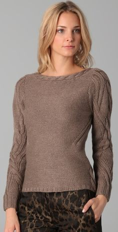 Cable Sweater; Elie Tahari