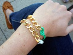 DIY Cord and Chain Bracelets