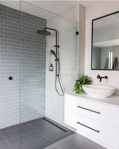 Luxury Bathroom Master Baths Paint Colors is extremely important for your home. Whether you choose the Luxury Master Bathroom Ideas or Luxury Bathroom Master Baths With Fireplace, you will make the best Small Bathroom Decorating Ideas for your own life. Grey Floor Tiles, Small Bathroom, Bathroom Renovation, Luxury Bathroom Master Baths, Bathrooms Remodel, Luxury Bathroom, Bathroom Renos, Laundry In Bathroom, Bathroom Renovations