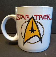 Vintage 1994  Pfaltzgraff Star Trek Command Logo Double Sided Coffee Mug/Cup!