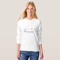 Kawaii Family Cloud Sweatshirt - family gifts love personalize gift ideas diy