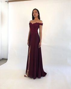 Classic A Line Off the Shoulder Burgundy/Green Long Prom/Evening Dresses with Appliques sold by BeautyLady. Shop more products from BeautyLady on Storenvy, the home of independent small businesses all over the world. A Line Prom Dresses, Lace Evening Dresses, Strapless Dress Formal, Formal Dresses, Chiffon Dresses, Formal Prom, Fall Dresses, Long Dresses, Party Dresses