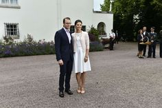Crown Princess Victoria  of Sweden celebrates her 37th birthday with her citizens near her home in Solliden (Palace) July 14, 2014
