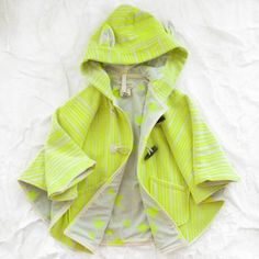 noé & zoë cape - yellow - outerwear - girl   Thumbe Line