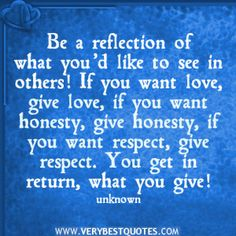 Be a reflection...