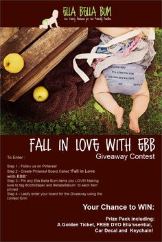 Fall in Love with EBB Giveaway Contest! Falling In Love, Giveaways, Elf Ideas, Pinterest Board, Cloth Diapers, 30th, Amanda, Congratulations, September