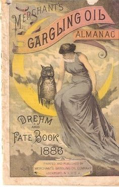 Merchant's Gargling Oil Almanac, 1886, 32 pages pharmacy medicine I will gladly scan more pages for anyone who asks. This seems like a real piece of history. If you have any questions about it please