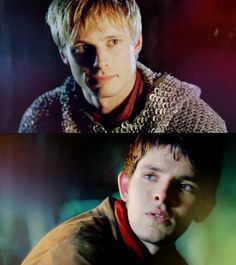 Caring Arthur and concerned Merlin.