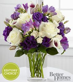 The FTD® Moonlit Meadows Bouquet by Better Homes and Gardens® - 18 Stems - VASE INCLUDED