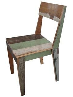 Piet Hein Eek - eiken stoel in sloophout groen