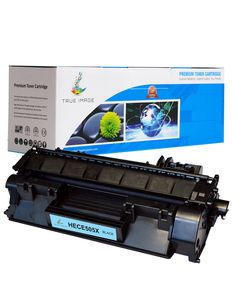 TRUE IMAGE HECE505XX High Yield Black Toner Replaces HP CE505X