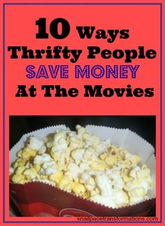 10 tips for saving money on the cost of a night out at the movies.