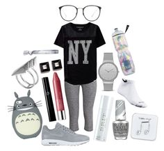 """Night Jog"" by since1992 ❤ liked on Polyvore featuring H&M, Aéropostale, NIKE, Clinique, Giorgio Armani, Burberry, Givenchy, Skagen, Linda Farrow and OPI"