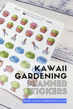 Kawaii Gardening Stickers, Cute Garden Planner Stickers for your planner, diary, calendar or bullet – School Calendar İdeas. Kids Calendar, School Calendar, Calendar 2019 And 2020, Garden Planner, Erin Condren Life Planner, Planner Stickers, Sticker Paper, Happy Planner, Scrapbooking Layouts