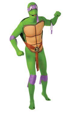 Donatello (TMNT). Teini-ikäinen Mutanttininjakilpikonna Donatellon tunnistaa violetistä naamiosta, joka on myös hänen lempivärinsä. Donatello on ryhmän aivot, joka tietää elektroniikasta lähes kaiken.
