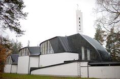 Alvar Aalto: Church of the Three Crosses, Imatra, Finland Helsinki, Alvar Aalto, Outdoor Gear, Architecture Design, Tent, Around The Worlds, Instagram, Contemporary, City