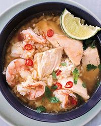 Cambodian Chicken-and-Rice Soup with Shrimp Recipe on Food & Wine