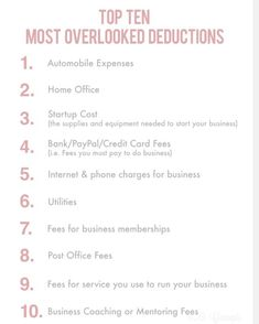 Business deductions that are often overlooked