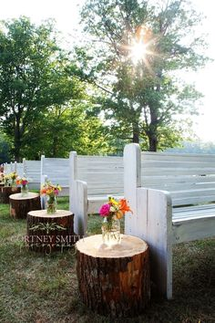 church pew outdoor wedding - Bing Images