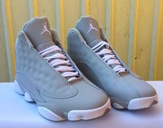 8bf882836112cf Air Jordan 13 basketball shoes Women Grey