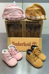 Timberland Infant 10415 Crib Boots Wheat & Pink | eBay