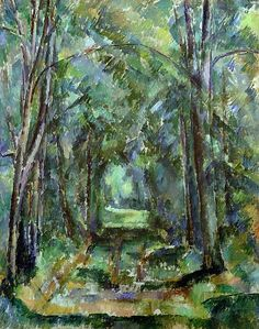 Avenue at Chantilly, 1888 (oil on canvas) by Cezanne, Paul (1839-1906)