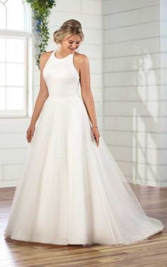 Relaxed Ballgown with High Halter Neckline - Essense of Australia