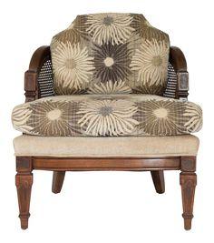Caned Barrel Chair on Chairish.com