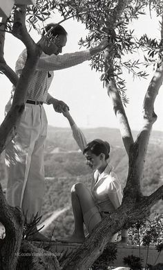 1958 Photo of Audrey and Mel in Beverly Hills by Don Ornitz