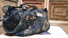Hand-made jean handbag <3