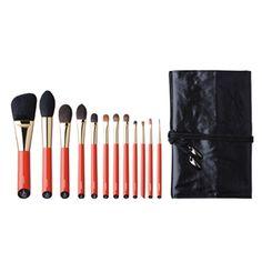 Vermillion Handled Brush Set 12 pcs