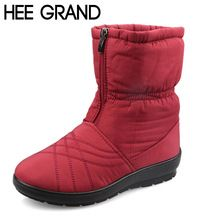 Hee grand plus size flexível à prova d' água cubo mulher botas altas qualidade Cozy Pele Quente Dentro de Botas de Neve Sapatos de Inverno Mulher XWX3375 alishoppbrasil