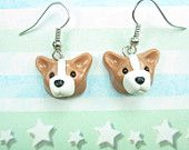 Pembroke Welsh Corgi Earrings - dog earrings jewelry polymer clay