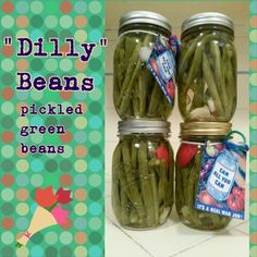 Crunchy pickled green beans. Pickle, then wait three long weeks to snack! Asthecurlturns.com Facebook.com/victoryroll