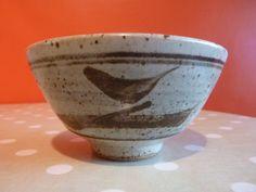 Studio Pottery stoneware bowl with iron brush decoration by Bernard Leach