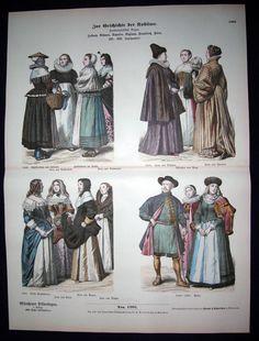 16th 17th Century Women Dresses Holland Spain France Poland Costumes Fashion | eBay